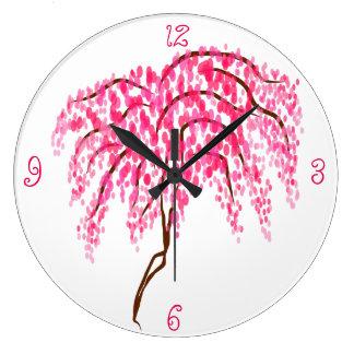 Cherry blossom large clock