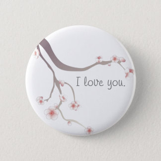 Cherry Blossom Love... 6 Cm Round Badge