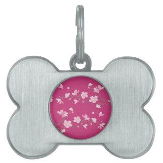 Cherry Blossom - Magenta Pet ID Tag