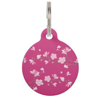 Cherry Blossom - Magenta Pet Tags