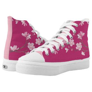Cherry Blossom - Magenta Printed Shoes