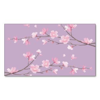Cherry Blossom Magnetic Business Card