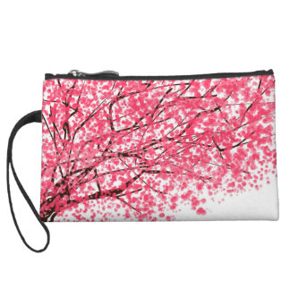 Cherry Blossom Mini Clutch Wristlet Clutch