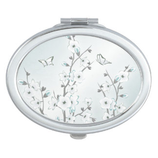 Cherry Blossom  Mint White Makeup Mirrors