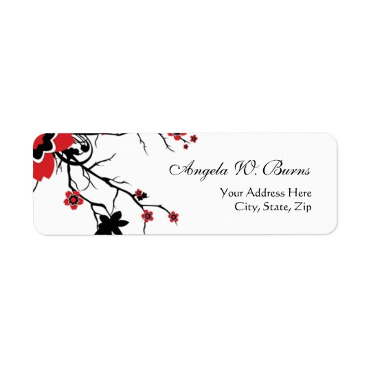 Cherry Blossom Modern Custom Address Labels