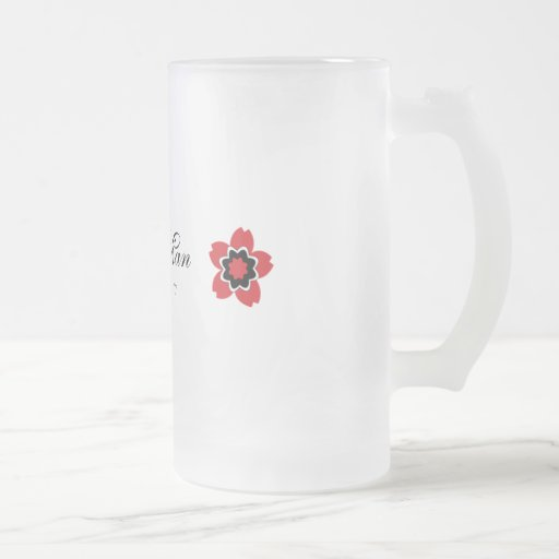 Cherry Blossom Modern Custom Best Man Mug