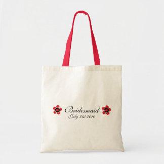 Cherry Blossom Modern Custom bridesmaids Favor Budget Tote Bag