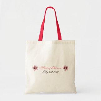 Cherry Blossom Modern Custom MOH Favor Canvas Bag