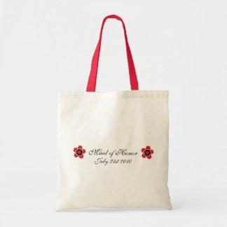 Cherry Blossom Modern Custom MOH Favor Tote Bags