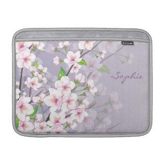 Cherry blossom Monogram Rickshaw Sleeve MacBook Air Sleeve