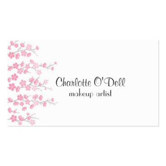 cherry blossom pack of standard business cards