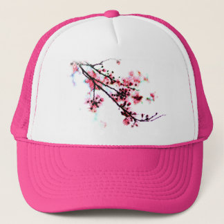 Cherry Blossom Painting Trucker Hat