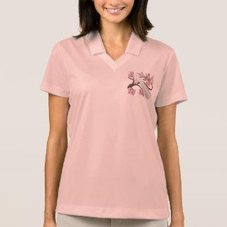 Cherry Blossom Peacock Polo T-shirt