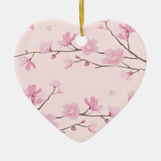 Cherry Blossom - Pink Christmas Ornament