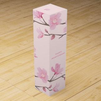 Cherry Blossom - Pink - Happy Anniversary Wine Gift Box