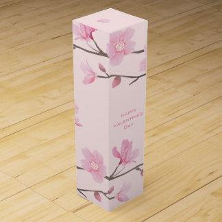 Cherry Blossom - Pink - Happy Valentine's Day Wine Box