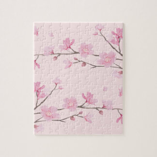 Cherry Blossom - Pink Jigsaw Puzzle