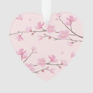 Cherry Blossom - Pink - Just Married Ornament
