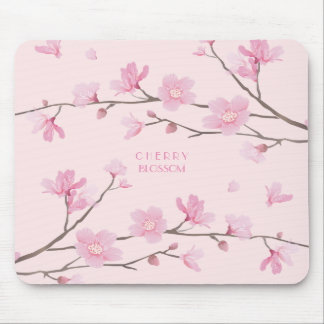 Cherry Blossom - Pink Mouse Mat