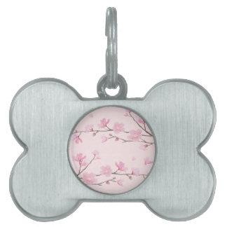 Cherry Blossom - Pink Pet ID Tag