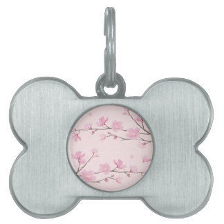 Cherry Blossom - Pink Pet Tag