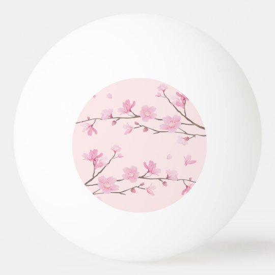 Cherry Blossom - Pink Ping Pong Ball