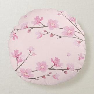 Cherry Blossom - Pink Round Cushion