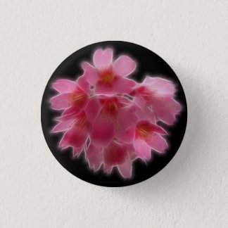 Cherry Blossom Pink Tree Flower 3 Cm Round Badge