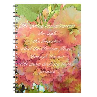 Cherry blossom poem notebook
