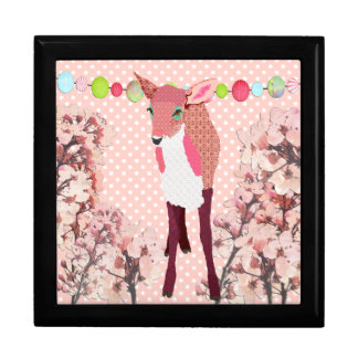 Cherry Blossom Pretty Pink Fawn Art Box