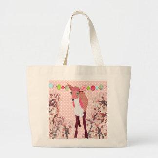 Cherry Blossom Pretty Pink Fawn Bag
