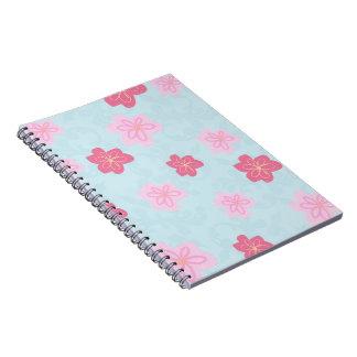 Cherry blossom print spiral notebooks