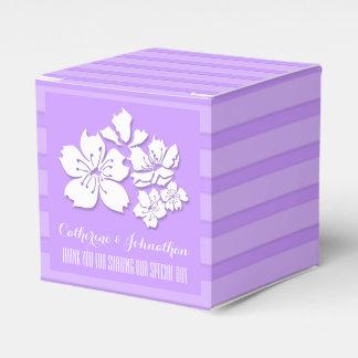 Cherry blossom purple wedding favors favour box
