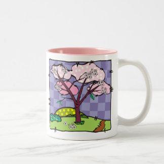 Cherry Blossom Quilt Square Mug