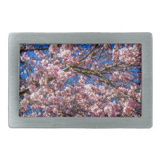 Cherry Blossom Rectangular Belt Buckles