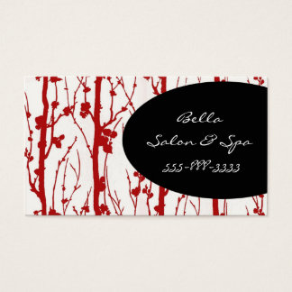 cherry blossom red business card
