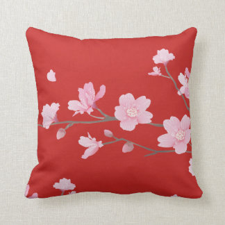 Cherry Blossom - Red Cushion