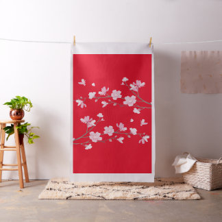 Cherry Blossom - Red Fabric