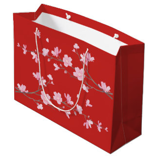 Cherry Blossom - Red Large Gift Bag