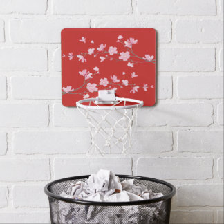 Cherry Blossom - Red Mini Basketball Hoop
