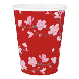Cherry Blossom - Red Paper Cup