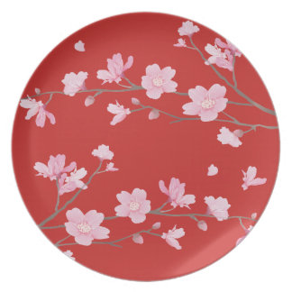 Cherry Blossom - Red Party Plates