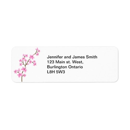 Cherry Blossom - Return Address