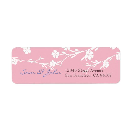 Cherry Blossom Return Address Labels