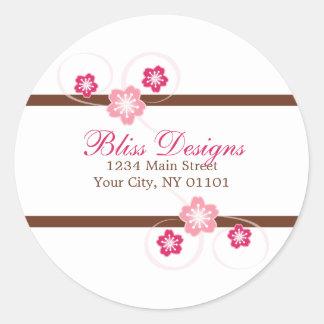 Cherry Blossom Return Address Stickers Stickers