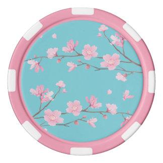 Cherry Blossom - Robin Egg Blue Poker Chips