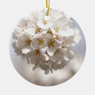 Cherry Blossom Round Ceramic Decoration