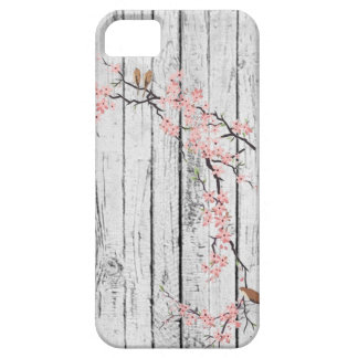 Cherry Blossom rustic white vintage iPhone 5 Cases