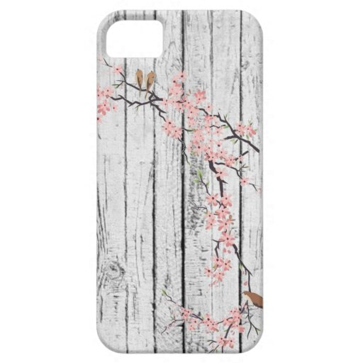 Cherry Blossom rustic white vintage iphone5 case iPhone 5 Covers