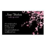 Cherry Blossom, Sakura Flowers - Pink Black
